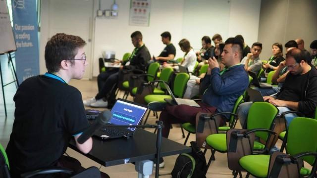 Perficient Latin America software developer and tech lead, David Sanchez, leads NodeConf Colombia workshop on chatbot drawing from his vast experience in software outsourcing and chatbot outsourcing.